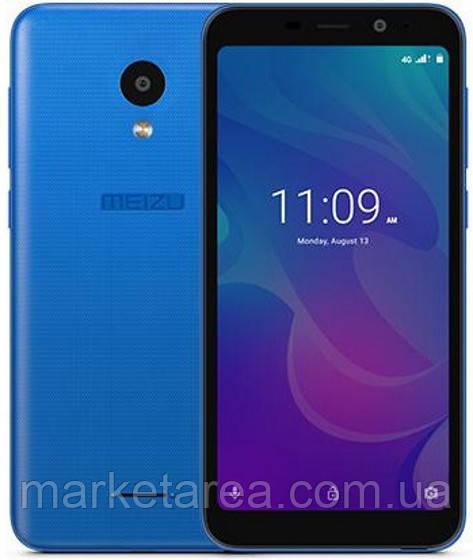 Смартфон мейзу безрамочный, синий с большим экраном на 2 sim Meizu C9 M818H Blue 2/16 гб Global Version