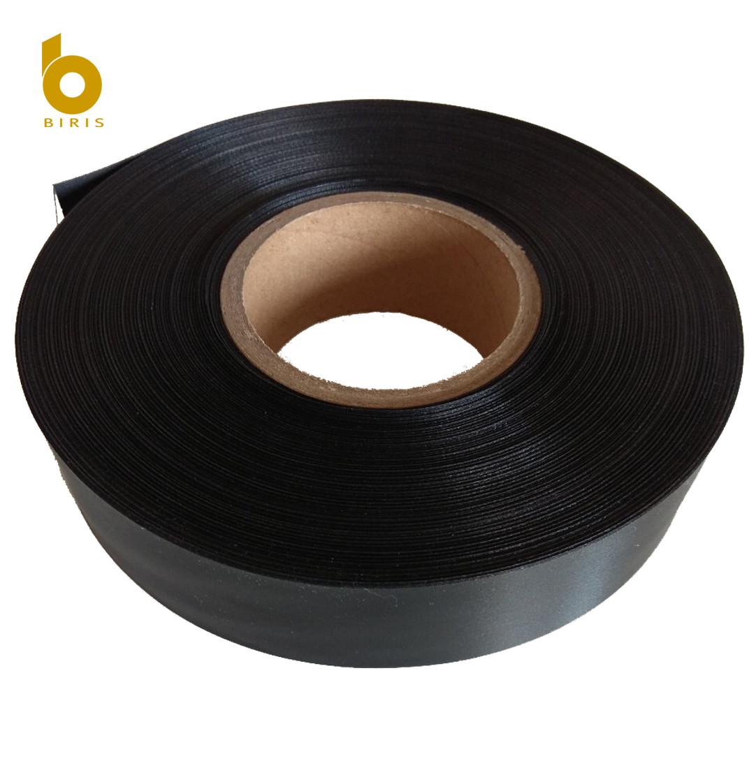 Лента сатиновая черная 15мм х 183м