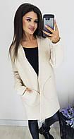 Кардиган женский с карманами 2016 (44/46, 48/50) (цвет белый) СП