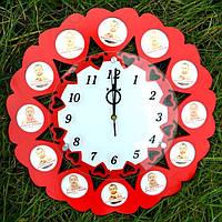 "Настенные часы-фоторамка ""Цветок"" T-Weid WT-1"