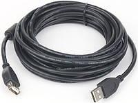 Кабель удлинитель usb2.0 cablexpert ccf-usb2-amaf-15 длина 4,5 м феррит