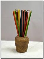 Свечи фиолетовые восковые 0,5 см х 20 см