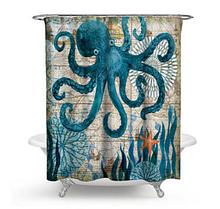 Занавеска-шторка для душа «Осьминог» 170×180 см