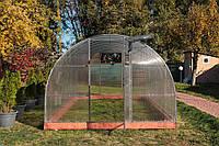 Арочная Теплица Сверхпрочная Основа Nk Plast (300х1000х200 см) Сотовый Поликарбонат 4 мм, фото 1