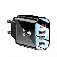 Зарядное устройство Baseus 5V3.4A универсальное USB на 3 порта (CCALL-BH01)