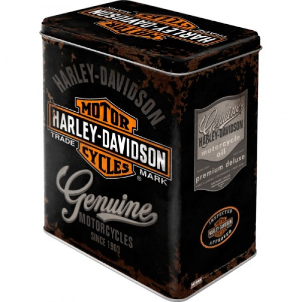 "Коробка для хранения L""Harley-Davidson Genuine Logo"" Nostalgic Art (30107)"