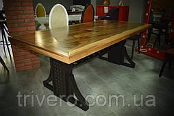 Большой стол в лофт loft стиле массив ореха
