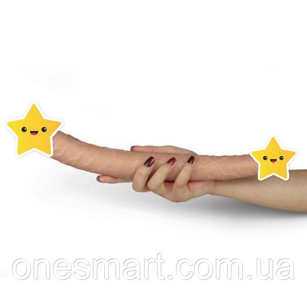 Реалистичный двусторонний фаллоимитатор от LoveToy, (длина 35 см.)