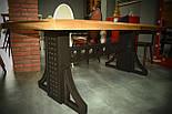 Большой стол в лофт loft стиле массив ореха, фото 4