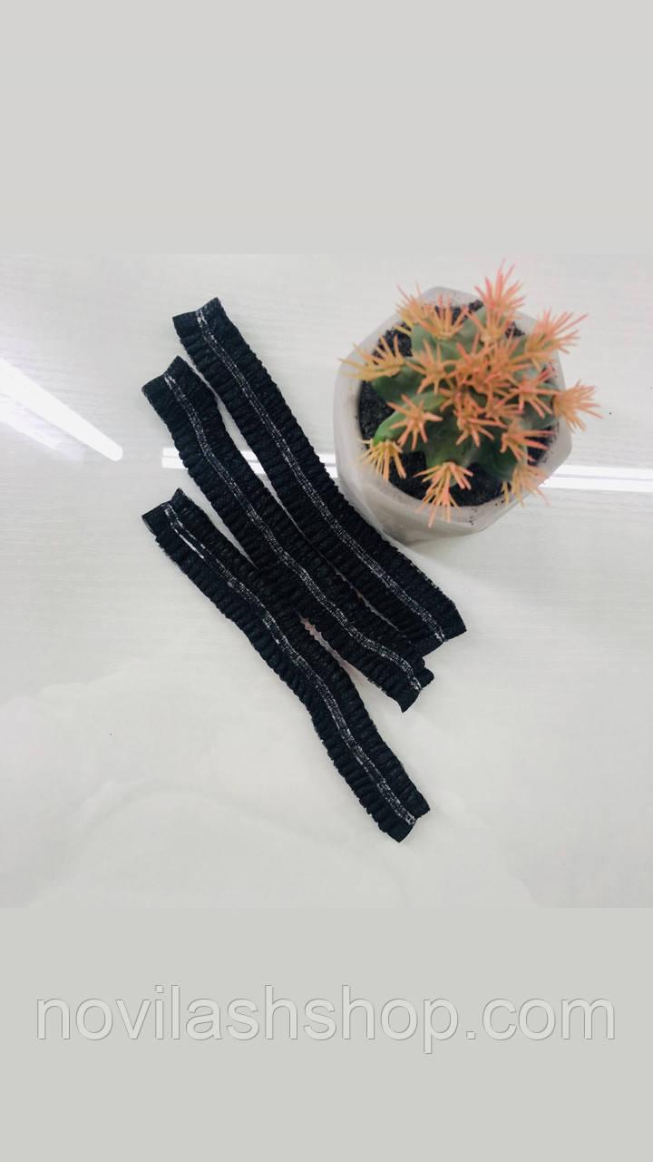Одноразовые чёрные шапочки Одуванчик 100 шт в уп