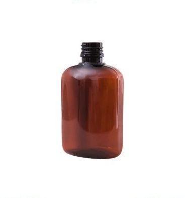 Флакон пластиковый коричневый (плоский) 100 мл(ОПТ)