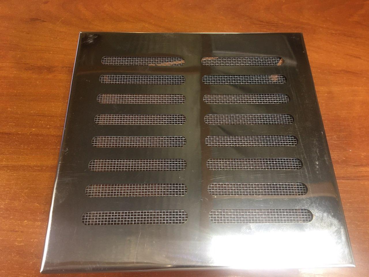 Вентиляционная решетка  для сауны , бани 170 * 170 (нерж.), фото 1
