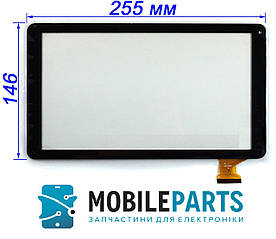 "Сенсор (Тачскрин) для планшета 10.1"" Bravis NB105 3G 50pin (255x146mm) (Черный) Оригинал Китай"