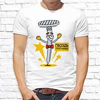"""Мужская футболка с принтом """"Гвоздь программы"""" Push IT"""