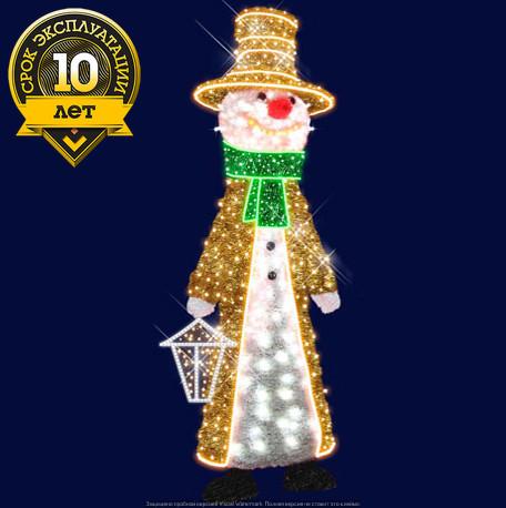 """3D светодиодный снеговик """"Оригинальный"""""""