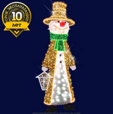"""3D светодиодный снеговик """"Оригинальный"""", фото 2"""
