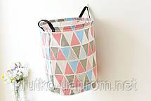 Корзина для игрушек, белья, хранения Зигзаг, розовый Berni, фото 3