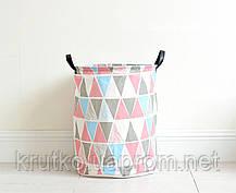Корзина для игрушек, белья, хранения Зигзаг, розовый Berni, фото 2