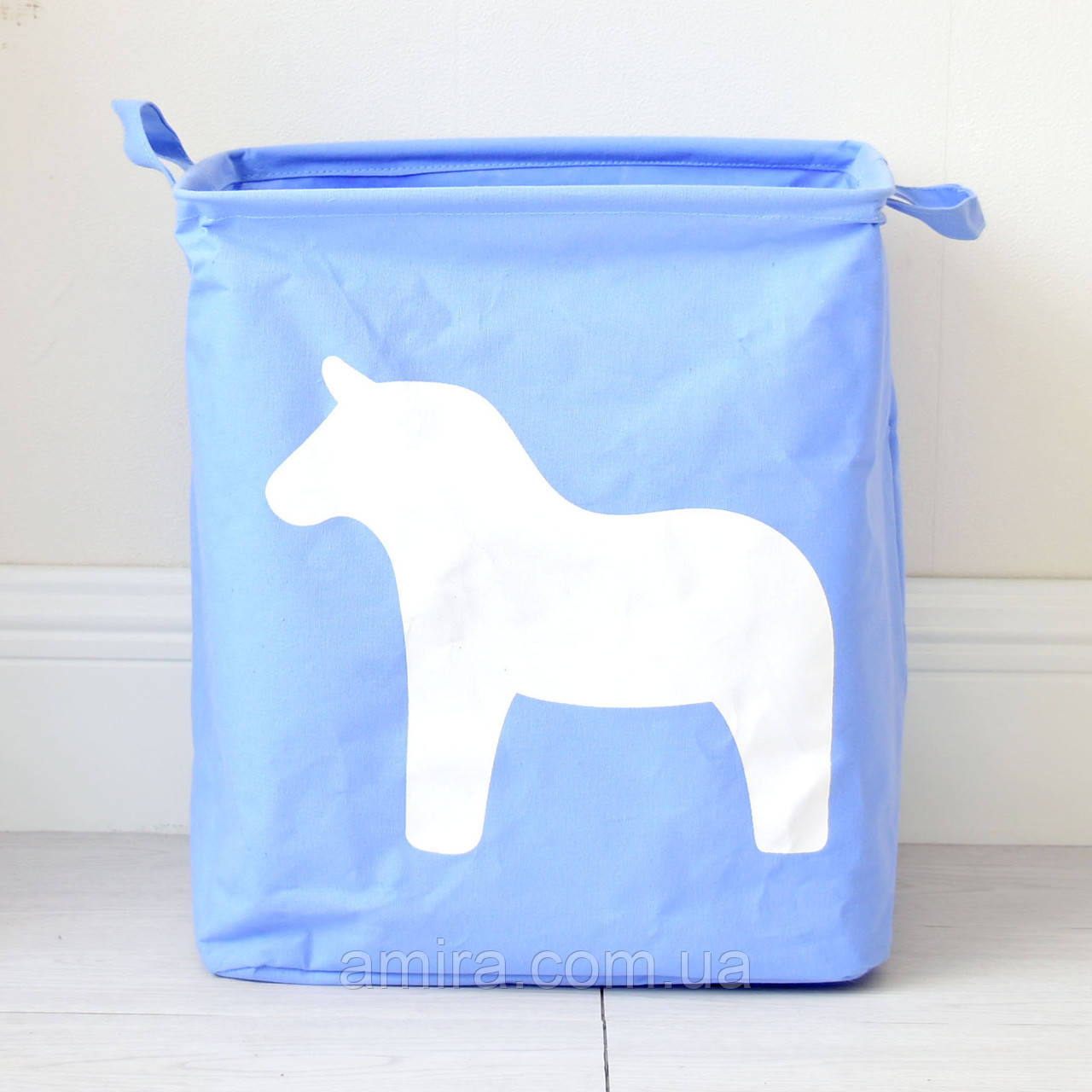 Корзина для игрушек, белья, хранения Лошадь, голубой Berni