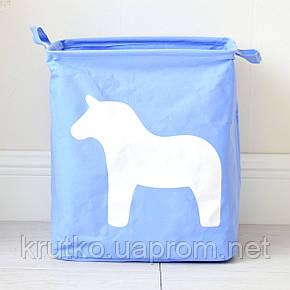 Корзина для игрушек, белья, хранения Лошадь, голубой Berni, фото 2