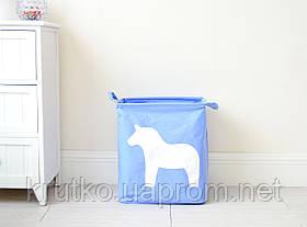 Корзина для игрушек, белья, хранения Лошадь, голубой Berni, фото 3