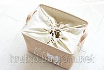 Корзина для игрушек, белья, хранения на завязках Кот Пианист, коричневый Berni, фото 3