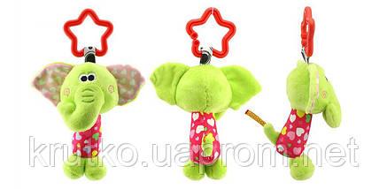 Мягкая подвеска - погремушка Слоненок Happy Monkey, фото 2