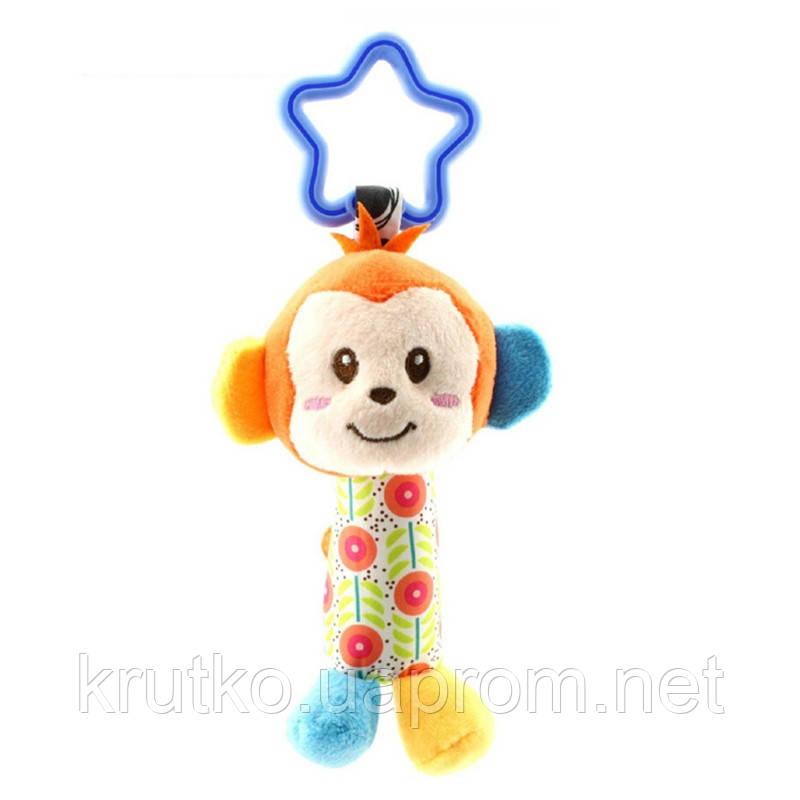 Мягкая подвеска - погремушка Мартышка Happy Monkey