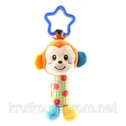 Мягкая подвеска - погремушка Мартышка Happy Monkey, фото 2