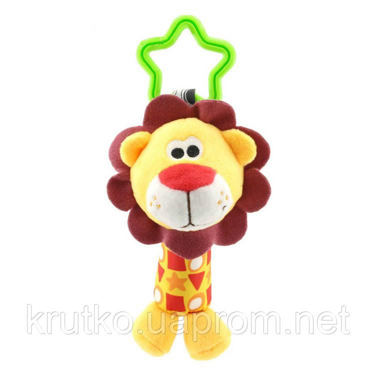 Мягкая подвеска - погремушка Лев Happy Monkey