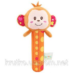 Мягкая погремушка Мартышка Happy Monkey, фото 2