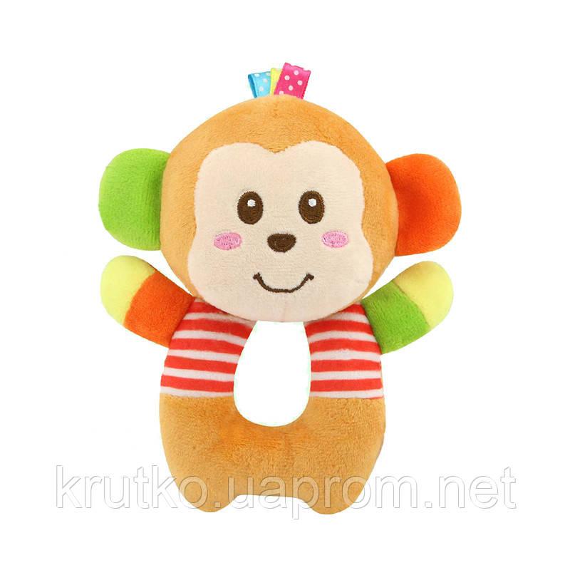Мягкая игрушка - погремушка Мартышка Happy Monkey