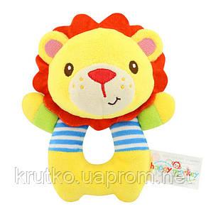 Мягкая игрушка - погремушка Лев Happy Monkey, фото 2