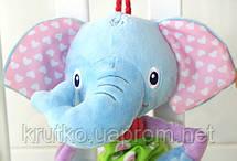 Мягкая музыкальная подвеска Слон Happy Monkey, фото 2