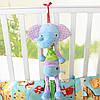 Мягкая музыкальная подвеска Слон Happy Monkey, фото 4