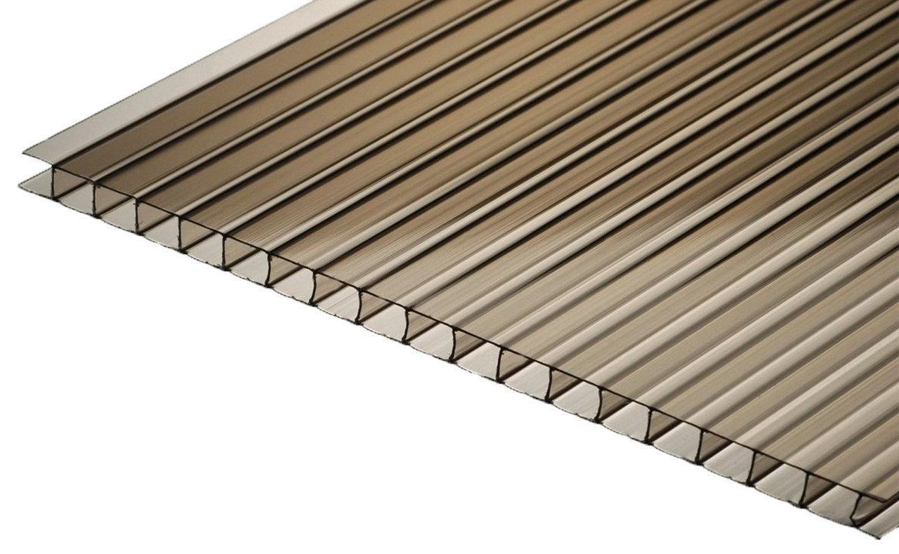 Поликарбонат сотовый бронзовы, 8 мм (3000/1050)