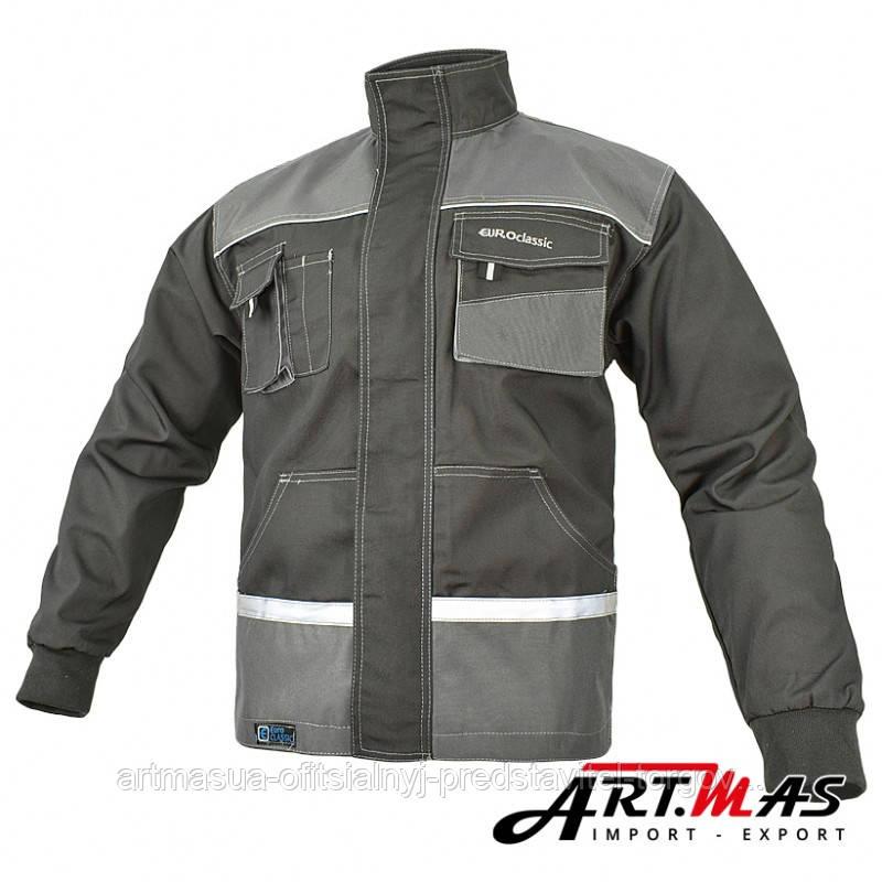 Рабочая куртка EUROCLASSIC-JACKET , со светоотражающими вставками, серого цвета. ARTMAS