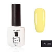 Гель-лак MB Ye-06 светлый - горчичный желтый Yellow Collection, эмаль 8 мл