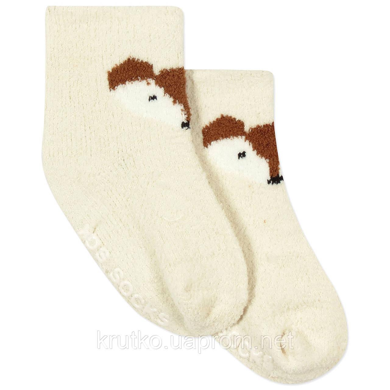 Детские антискользящие носки с начесом Лис Berni