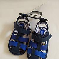 Пинетки-босоножки синие M&S 9-12мес.