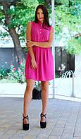 Женское шифоновое платье-рубашка без рукава, фото 1
