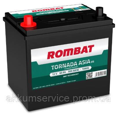 Аккумулятор автомобильный ROMBAT TORNADA Asia 60AH L+ 500A (TA60G)