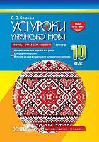 Усі уроки укр мова 10 кл 2 семестр Профіль Філологія
