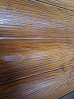 Блок хаус структурный дуб - металлический сайдинг Принт Китай 0,4 мм .ТермаСтил