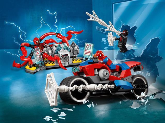 """Конструктор Bela 11186 Super Heroes """"Человек-паук: Спасательная операция на мотоцикле"""", 252 деталей купить"""