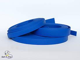 Поводок из биотана(Biothane) Синий 19мм