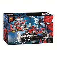 """Конструктор Bela 11186 Super Heroes """"Человек-паук: Спасательная операция на мотоцикле"""", 252 дет., фото 1"""