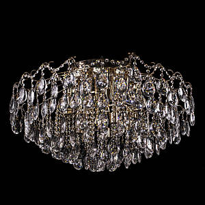 Стельова люстра кришталева(15 лампочок, 10 світлодіодних модулів) P5-E1567/15+10/FG