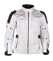Modeka Upswing Lady Jacket Light Grey, EU34 Мотокуртка тестильная женская летняя с защитой