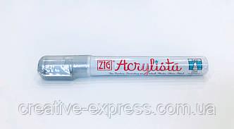 Маркер ZIG ACRYLISTA Chisel silver 6mm